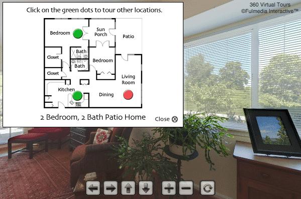 Patio Home Living Room  | Glen Meadows Virtual Tour