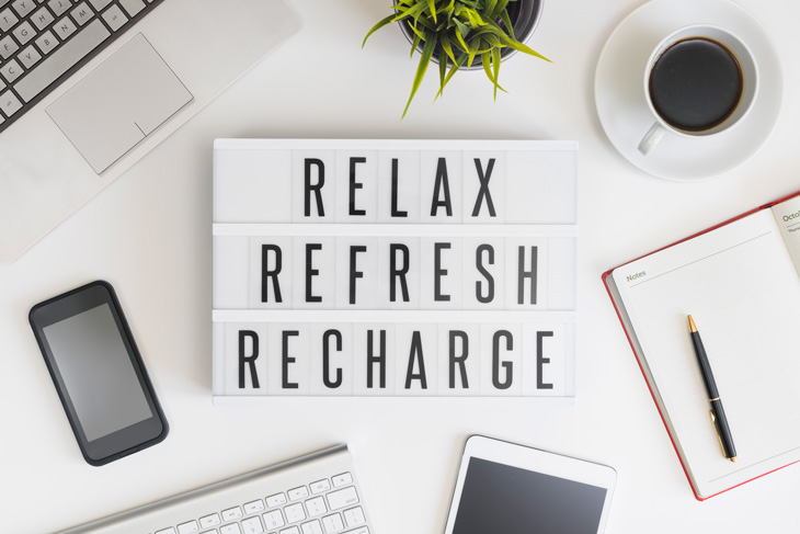 Relax Refresh Recharge Sign