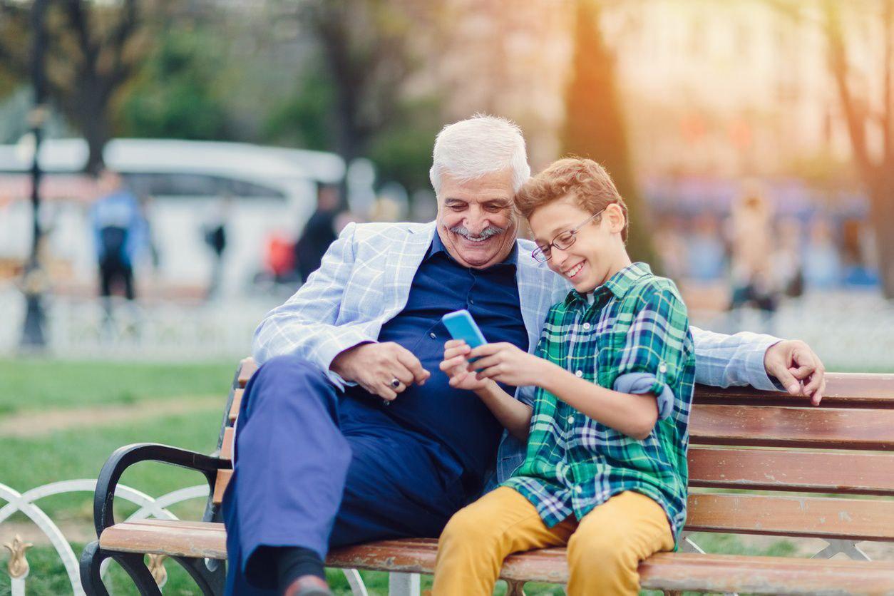 grandparent cell phone