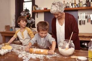 Grandkids cooking