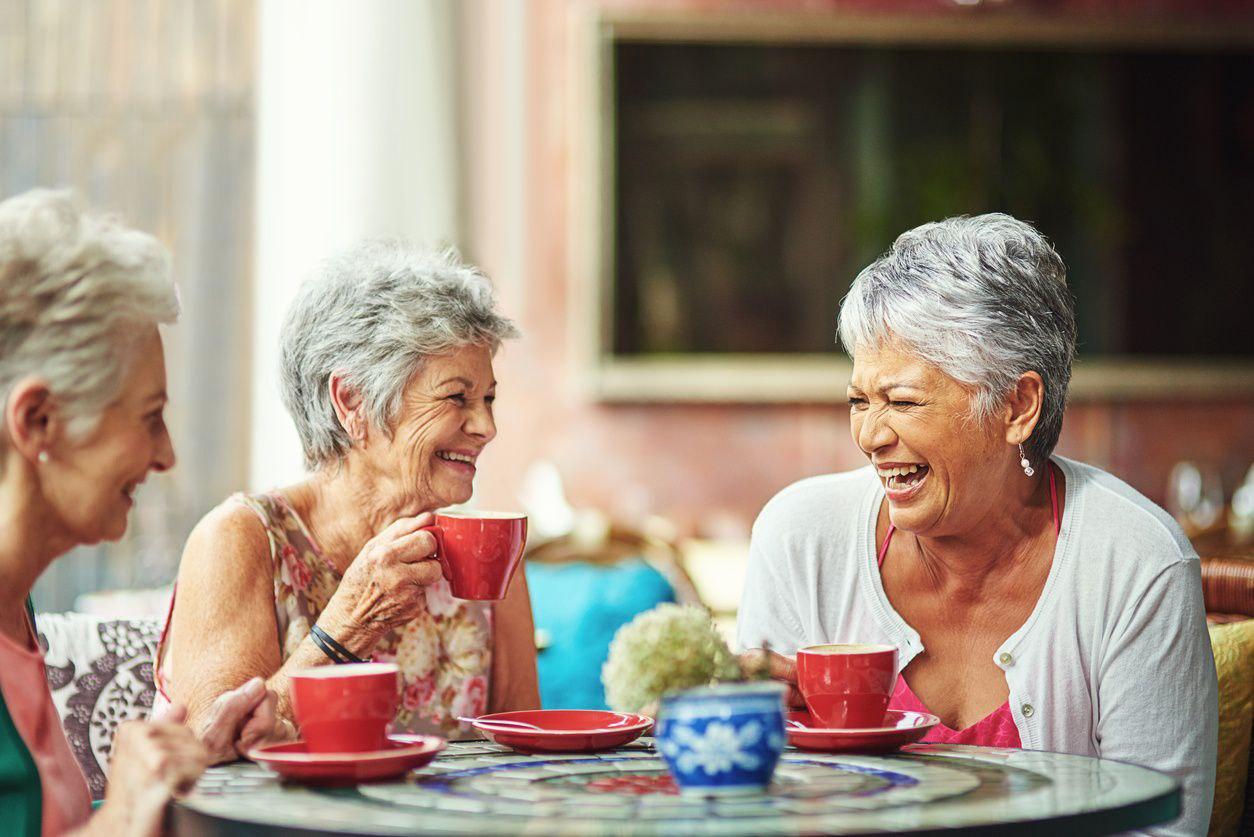 Senior community friends