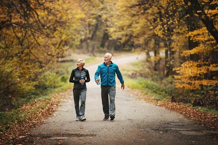 Lancaster Top Place to Retire- Senior Couple Walking
