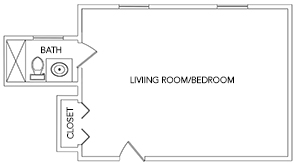 Azalia | Green Ridge Village Supportive Care Floor Plans