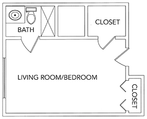 Carriage Court | Green Ridge Village Supportive Care Floor Plans