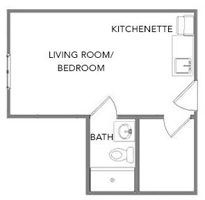 Forsythia | Green Ridge Village Supportive Care Floor Plans