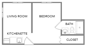 Wisteria | Green Ridge Village Supportive Care Floor Plans